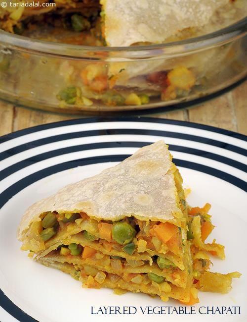Layered vegetable chapatis recipe roti recipes subzi recipes layered vegetable chapatis recipe roti recipes subzi recipes by tarla dalal tarladalal forumfinder Choice Image