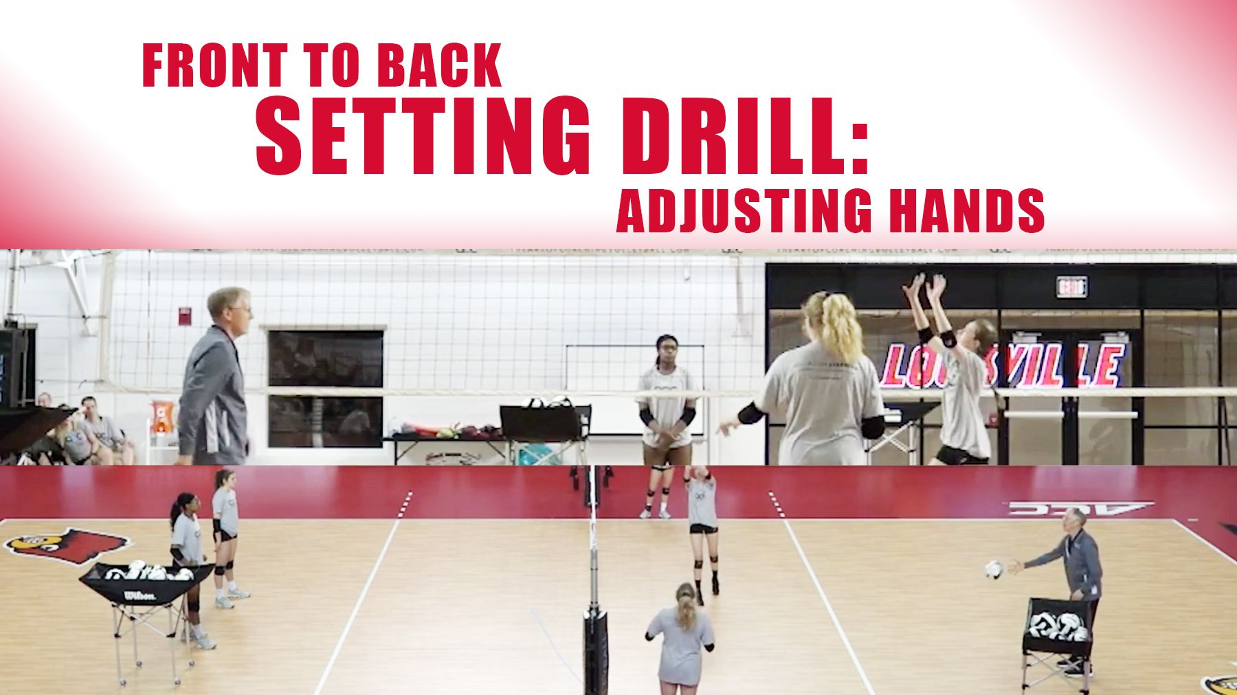 Front To Back Setting Drill Adjusting Hands The Art Of Coaching Volleyball Setting Drills Coaching Volleyball Drill
