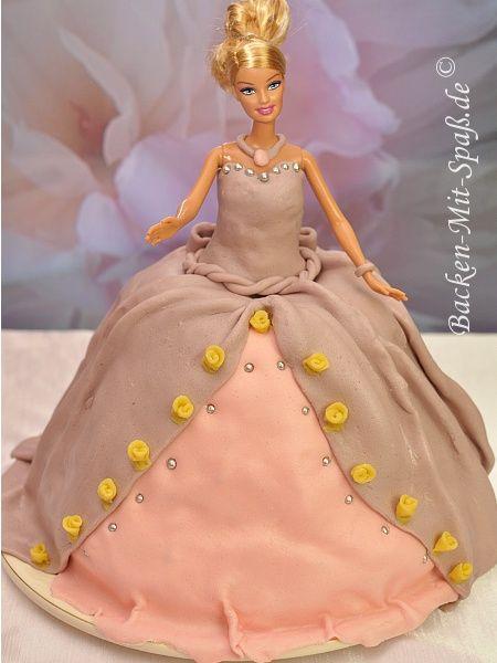 Barbie Torte Pinterest Barbie Torte Barbie Und Einfache Torten