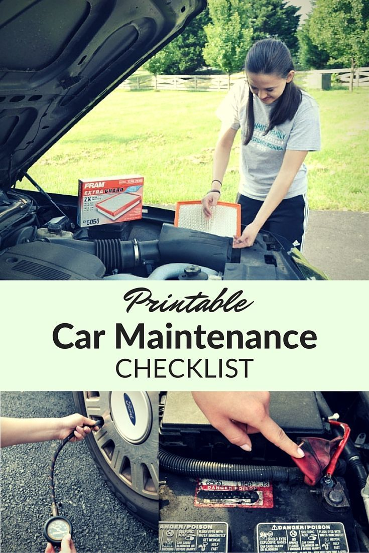 Printable Car Maintenance Checklist To Keep Your Vehicle Running Reliably Longer Ad