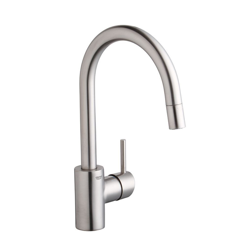 Grohe 32665dc1 Concetto Single Handle Pull Down Spray Head Kitchen