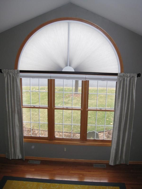 Arched Window Treatments Adjust A View Moveable Arches By