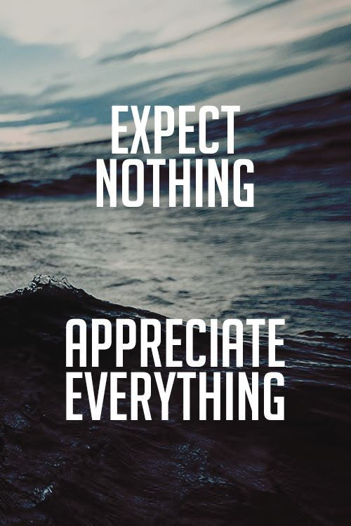 No Expectation No Disappointment