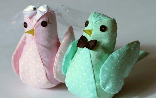 Como fazer passarinhos de tecido