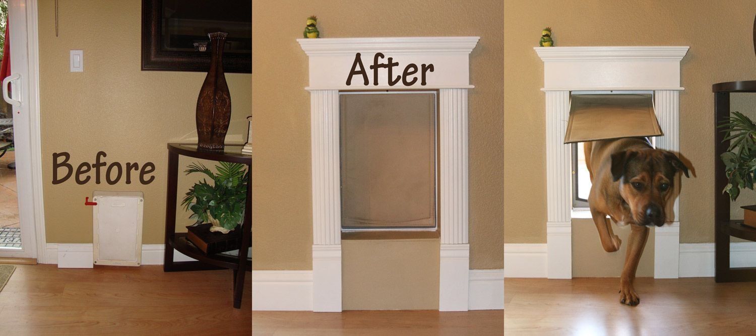 Custom Decorative Dog Door Frame Dog Door Installation Dog Door