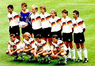 EQUIPOS DE FÚTBOL: SELECCIÓN DE ALEMANIA FEDERAL Campeona del Mundo de 1990