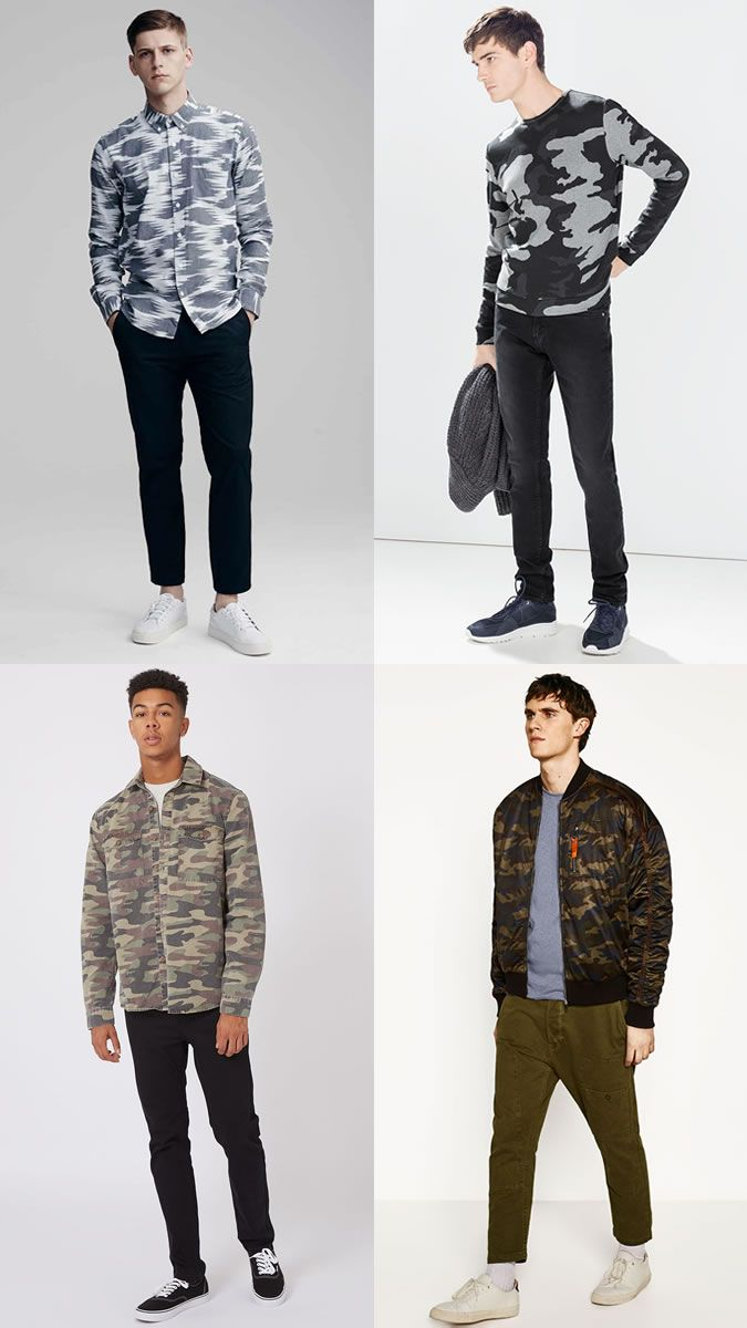 13743512373 Men's Camo Print Spring/Summer 2017 Fashion Trend Outfit Inspiration  Lookbook