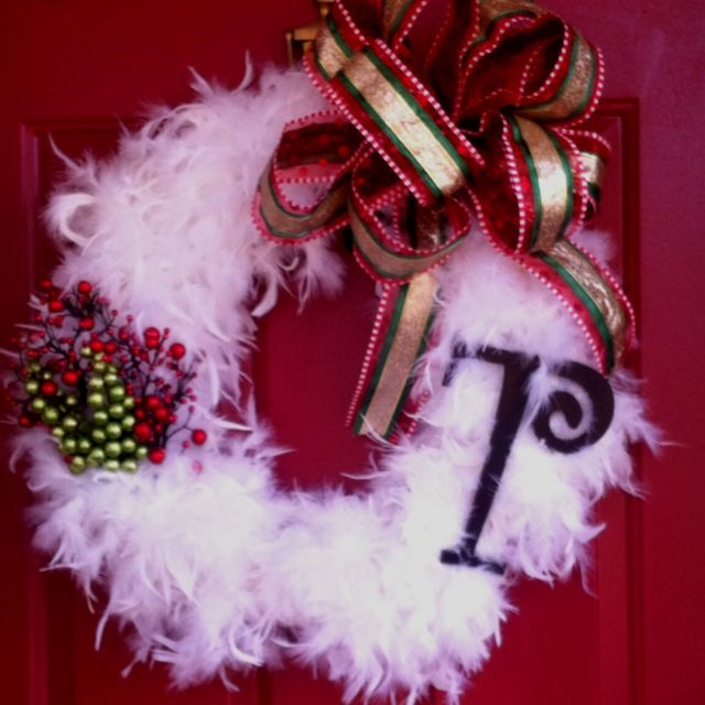 The wreath on our front door I made, I love it (: