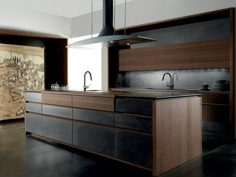 Einbauküche mit Kochinsel und zwei Spüllen Кухни Pinterest - moderne küchen mit kochinsel