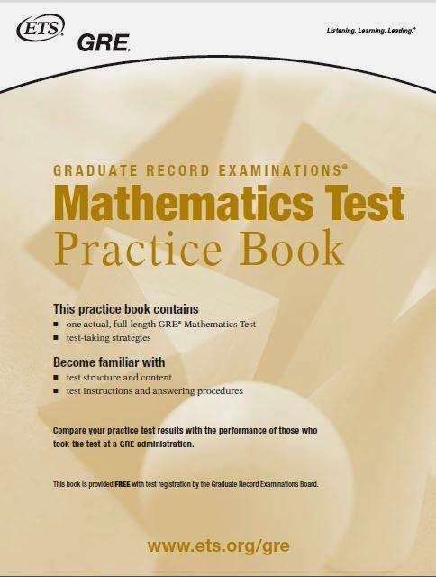 نمونه سوال ریاضی جی آر ای