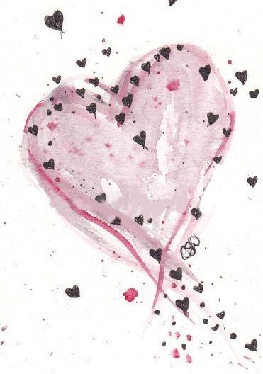 Pin Von Star Dust Auf Love It Aquarell Herz Aquarell Karte