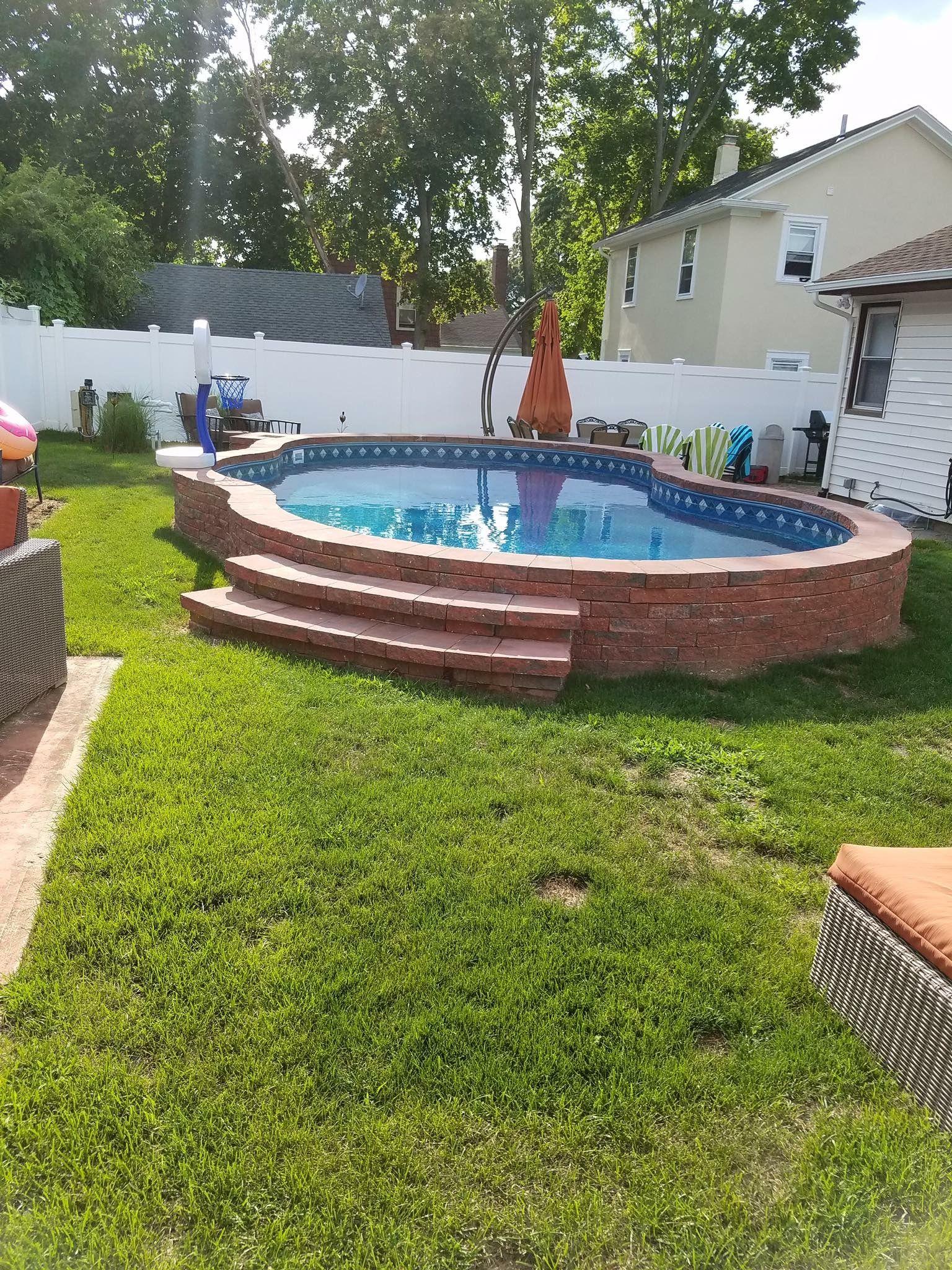 Above Ground Pool Swimming Pools Backyard Small Backyard Pools
