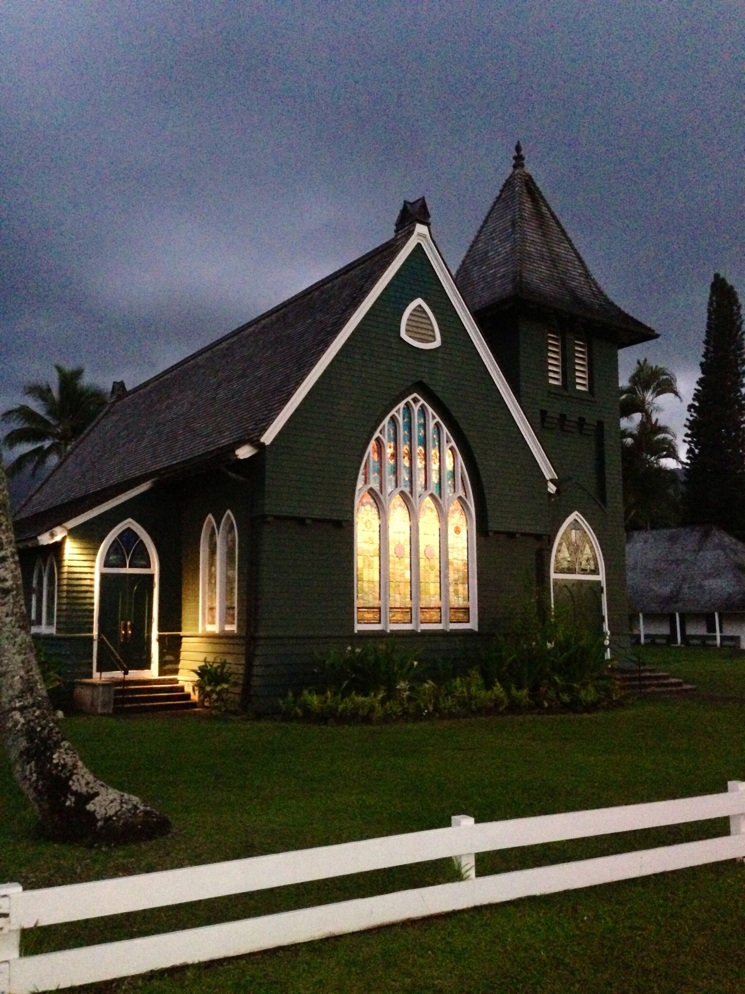 Hanalei Kauai Hawaii church Architecture house, Church