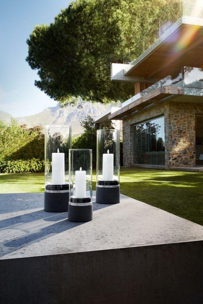 Gartenbeleuchtung Modern garten beleuchtung windlichter modern terrasse annemarie