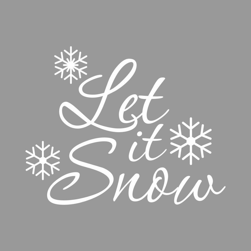 Amazon.com: Xmas Series Let It Snow With Snowflake Words Wall Stickers Art DIY Murals Reusable Great For Home Or Shop Window: Home & Kitchen