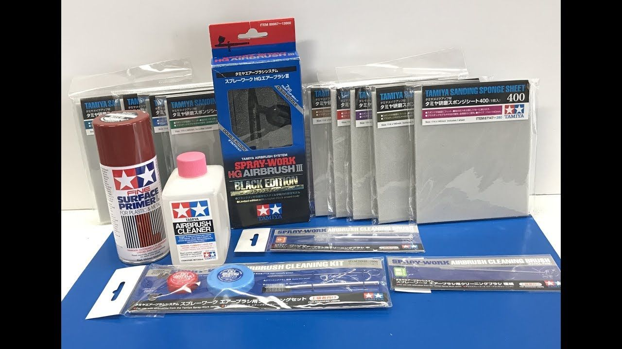 New Tamiya Products Including Red Oxide Primer And Sanding Sponges And T Sanding Sponges Sponges Tamiya