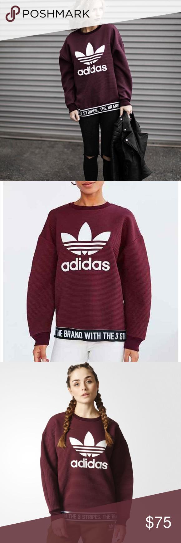 Adidas Originals Trefoil Crewneck Sweatshirt Clothes Design Sweatshirts Fashion Design [ 1740 x 580 Pixel ]