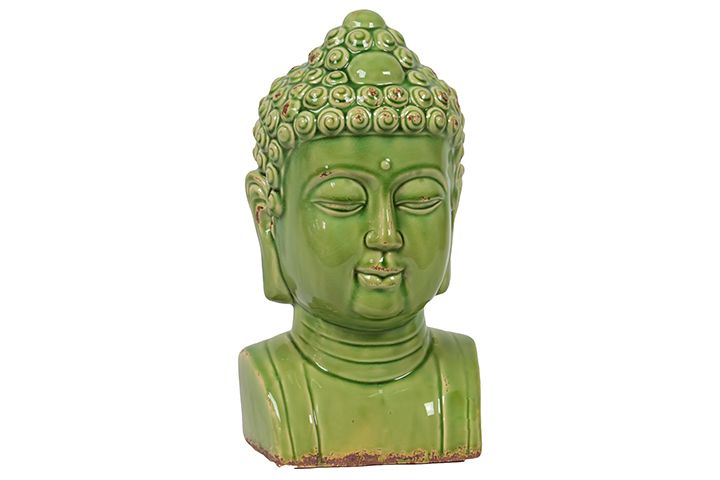 Urban Trends Collection Ceramic Buddha Bust Antique Green UTC10844