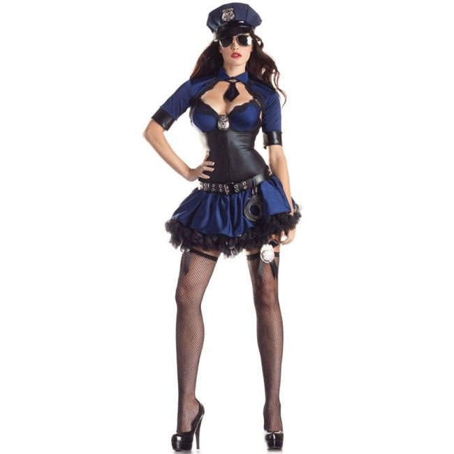 sexy halloween costumes sultry officer at karnationlingerie