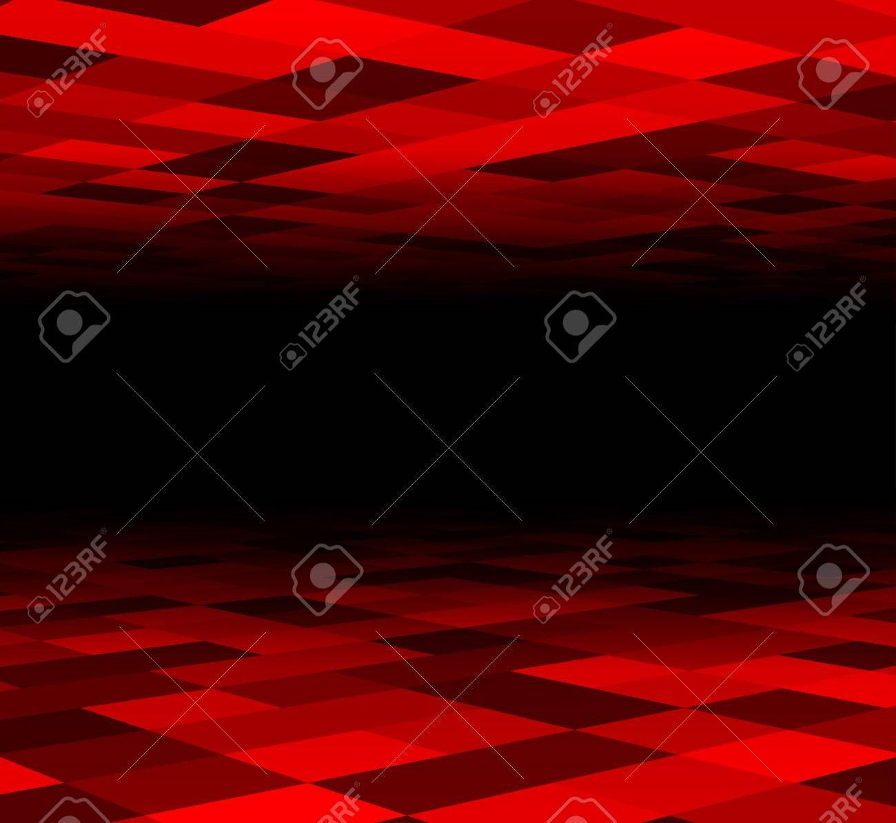 Perspective dark grid. Checkered surface. Vector illustration. ,