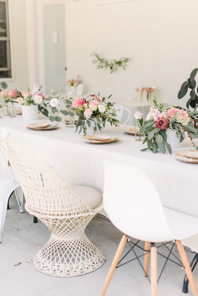 blush floral bridal shower - almost makes perfect