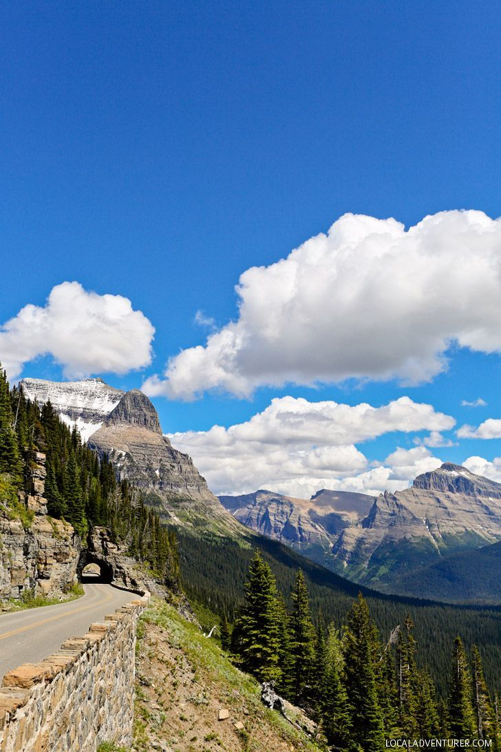 Going to the Sun Road, one of the most famous scenic drives in the world.