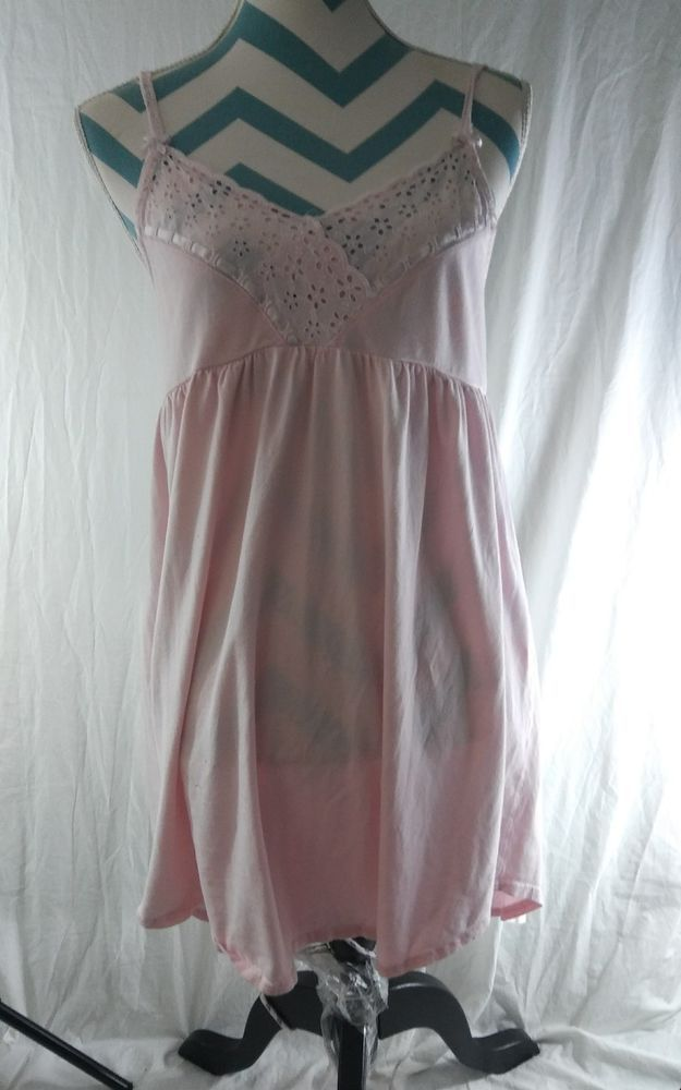 Victoria\'s Secret Size Medium Bed Night Gown Lingere Top Pink ...