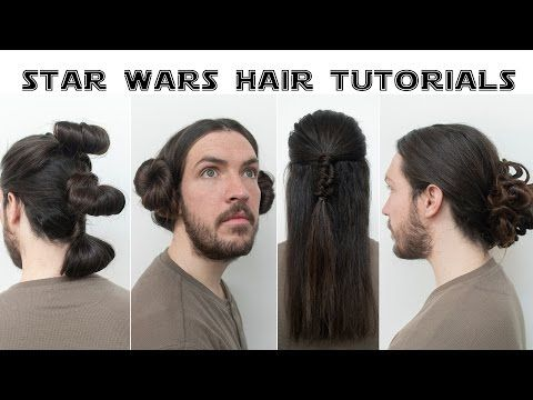 Como Hacer 3 Peinados De Star Wars En 5 Minutos Youtube Star Wars Hair Hair Help Hair Tutorial