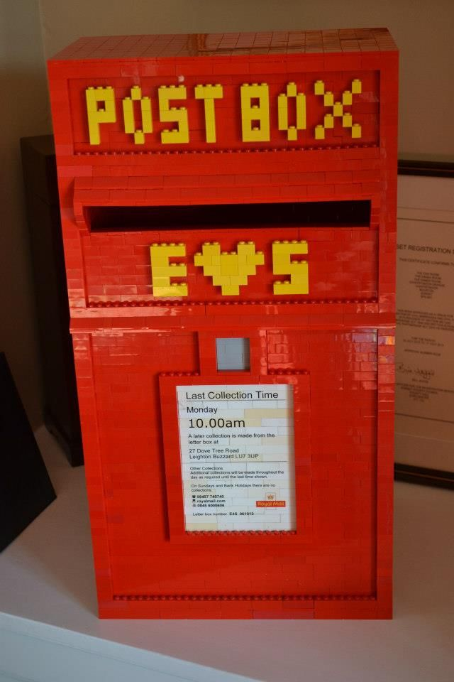 post box idea for wedding cards made of LEGO
