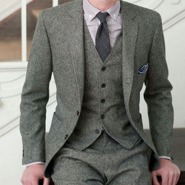 Gray 3 Piece Suit How Men Should Dress Fashion Brown Tweed