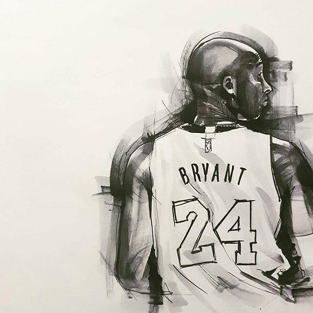 Kobe Marker Sketch By Artist Invisblea Kobebryant Fanart