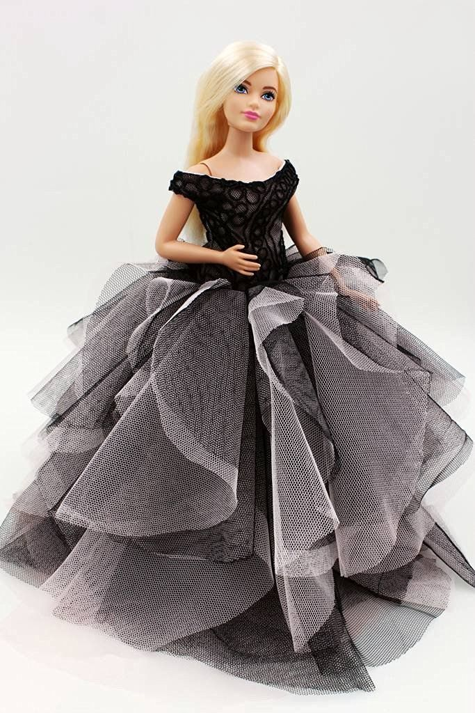 Amazon.com: Cora Gu Classic Strapless Lace Dress/Gowns For Curvy Barbie Doll U2026