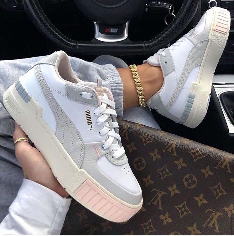 Puma Cali Sport White/Marshmallow in 2020 | Dior shoes ...