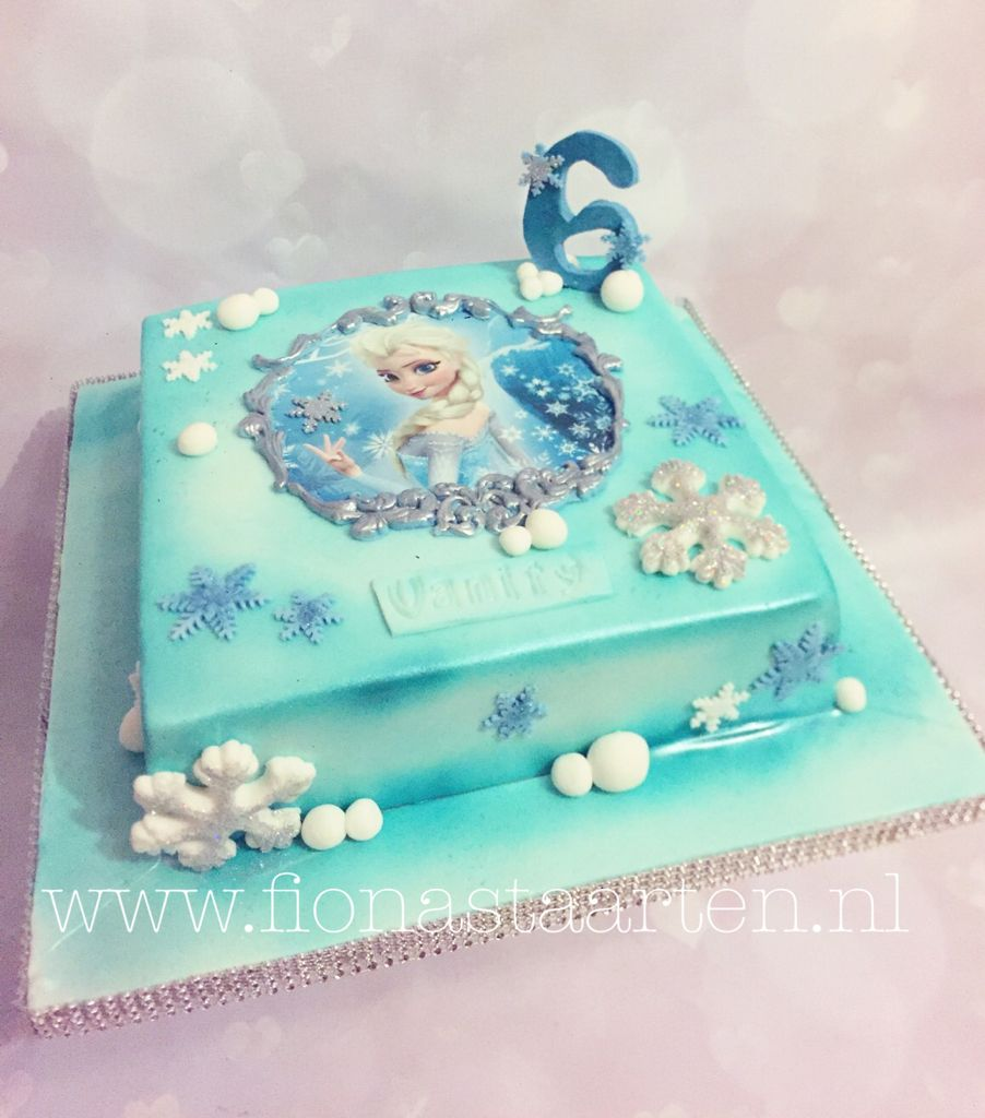 Cool Frozen Elsa Cake With Images Frozen Birthday Party Cake Birthday Cards Printable Trancafe Filternl