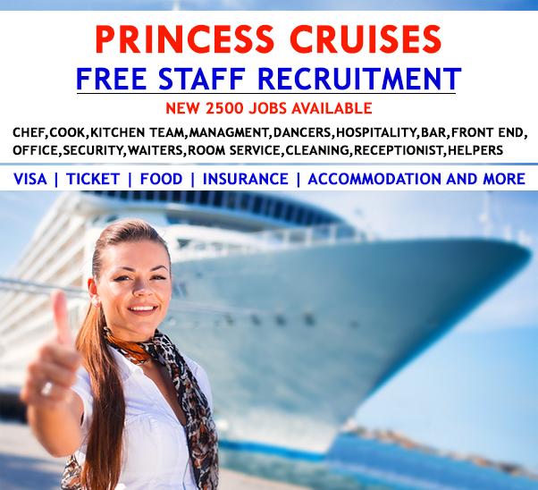 Latest Job Openings In Princess Cruises