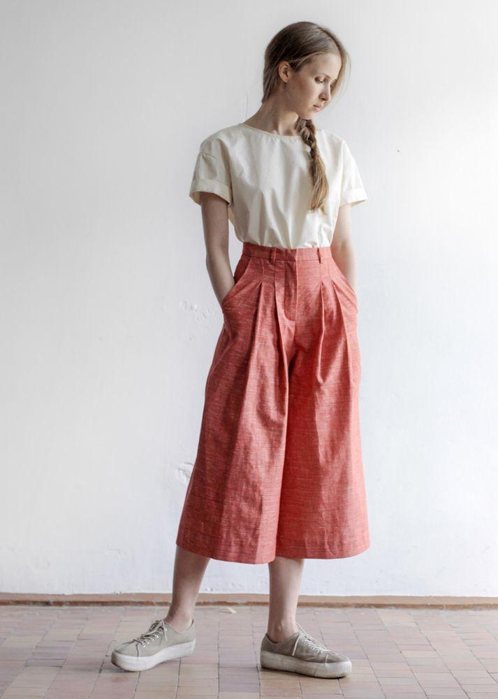 Красные юбка-брюки, 4 800.00p.