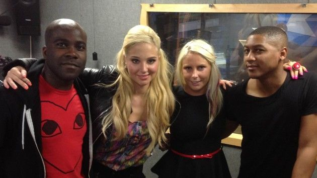 Rickie Melvin and Charlie with Tulisa