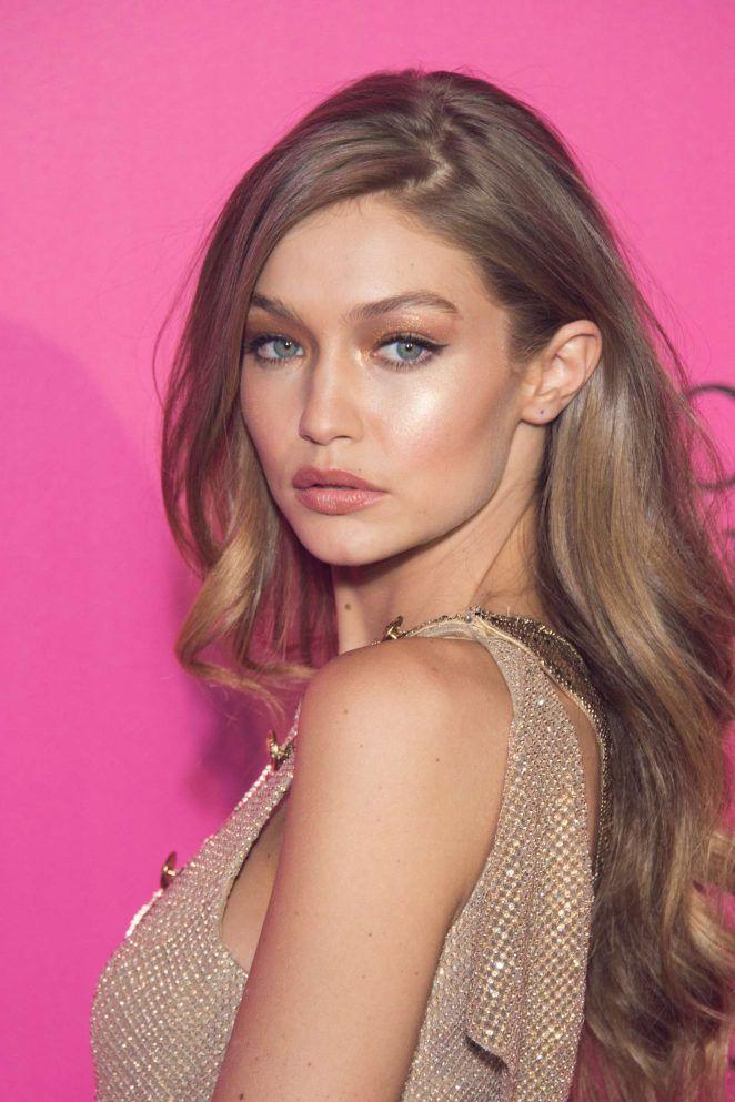 Gigi Hadid Victorias Secret Natural Makeup Blond Włosy