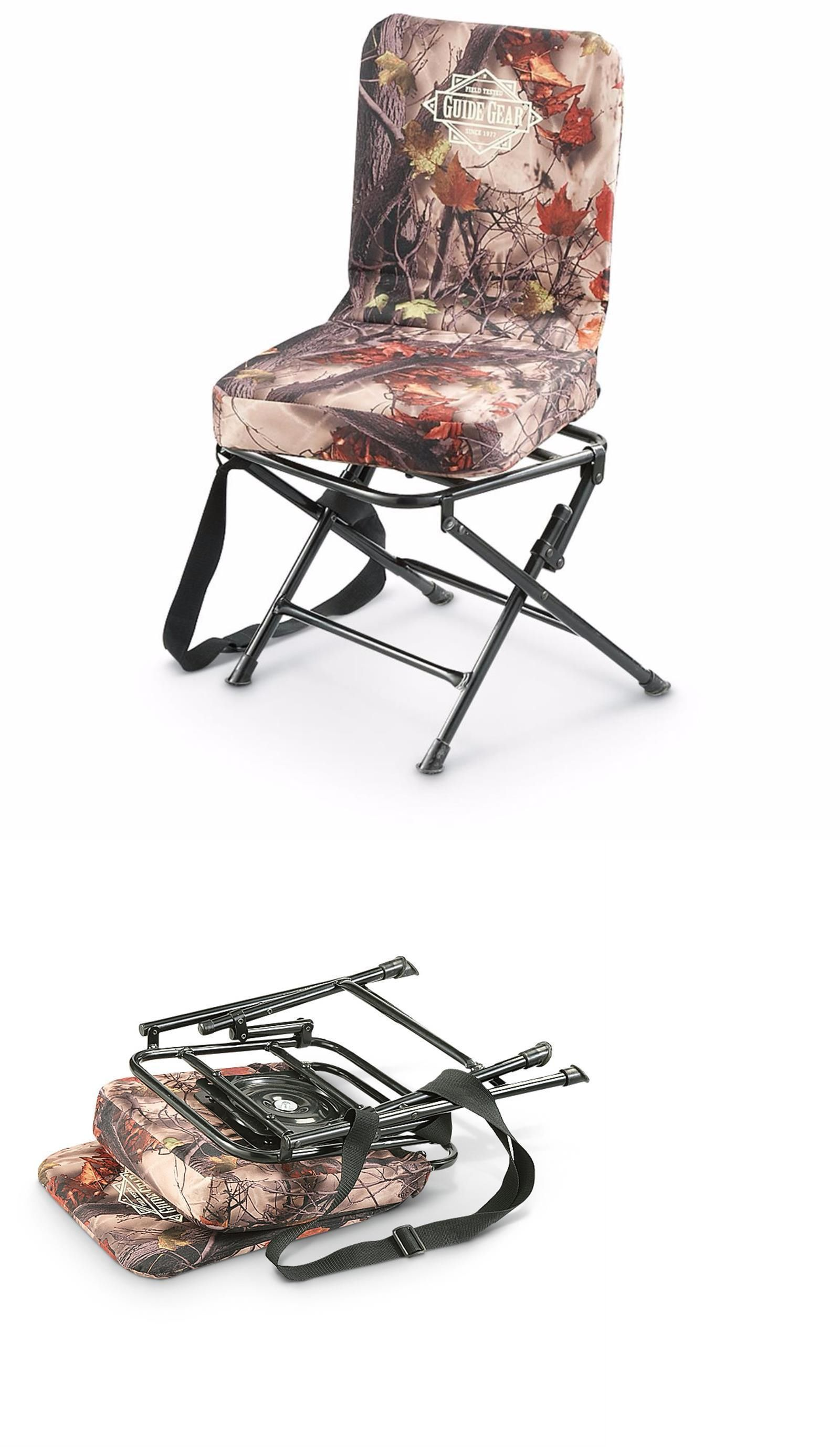 Seats and Chairs New Camo Silent Swivel Blind Hunting Chair