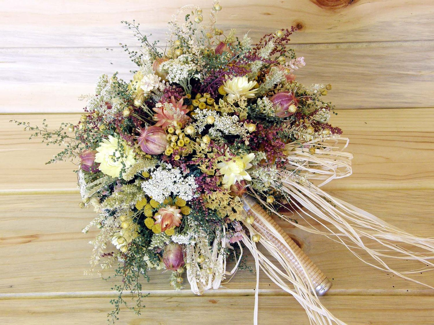 Country dried flower bridal bouquet something old something new country dried flower bridal bouquet something old something new 4995 via etsy izmirmasajfo