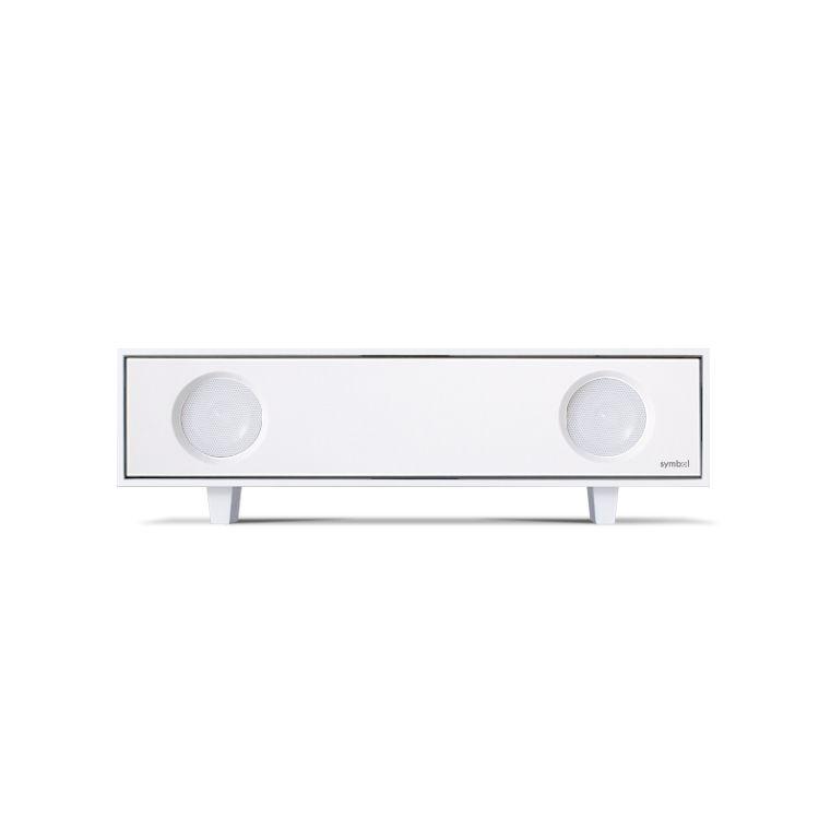 symbol audio - tabletop hi-fi: minimalistic white radio design ...