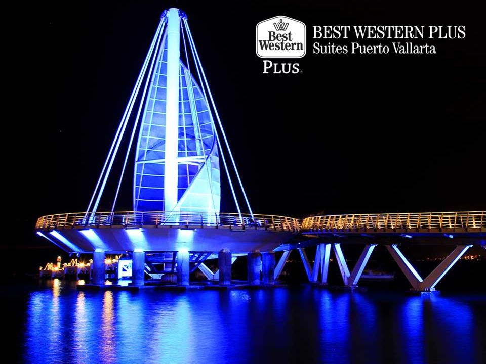 EL MEJOR HOTEL DE PUERTO VALLARTA. Durante su estancia en Puerto Vallarta, le sugerimos dar un paseo por el Muelle los Muertos, donde podrá contemplar la mejor vista de la zona y disfrutar de una bella puesta de sol. En Best Western Plus Suites Puerto Vallarta, le invitamos a reservar con nosotros escribiendo un correo electrónico a reservaciones@bwplussuitesvallarta.com.mx para que se sorprenda con los lugares que podrá visitar. http://www.bestwesternplusvallarta.com.mx