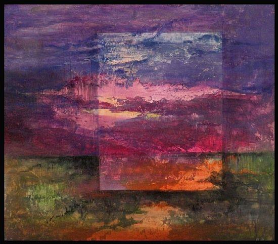 "Moon River by Carol McIntyre Oil ~ 8"" x 8"""