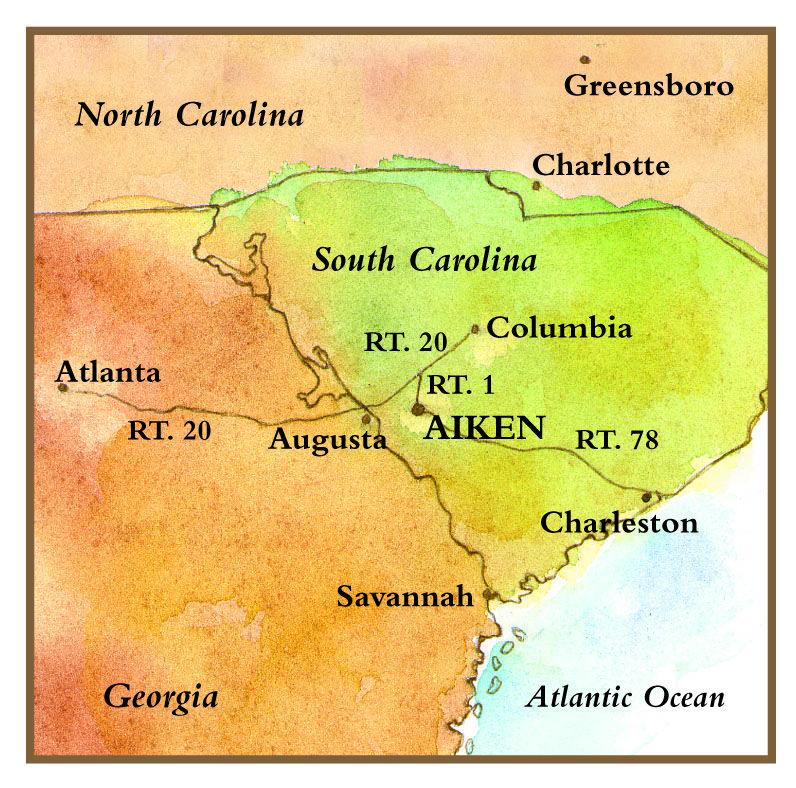 A map of Aiken, SC | Aiken, South Carolina | Pinterest | Augusta