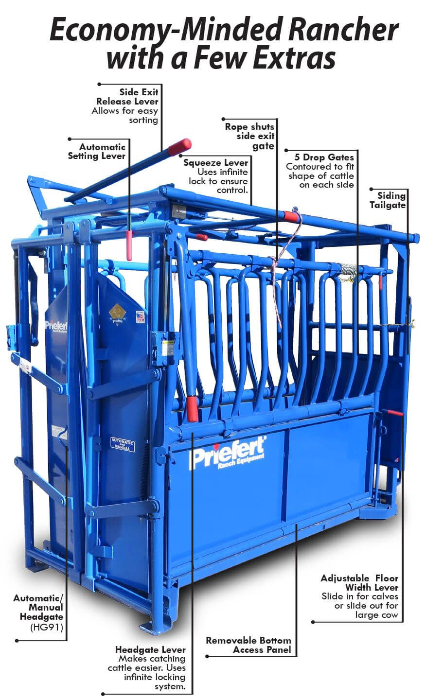Squeeze Chute-S01 With Model 91 Head Gate - S0191 | Cattle corrals, Beef  cattle, Cattle ranching