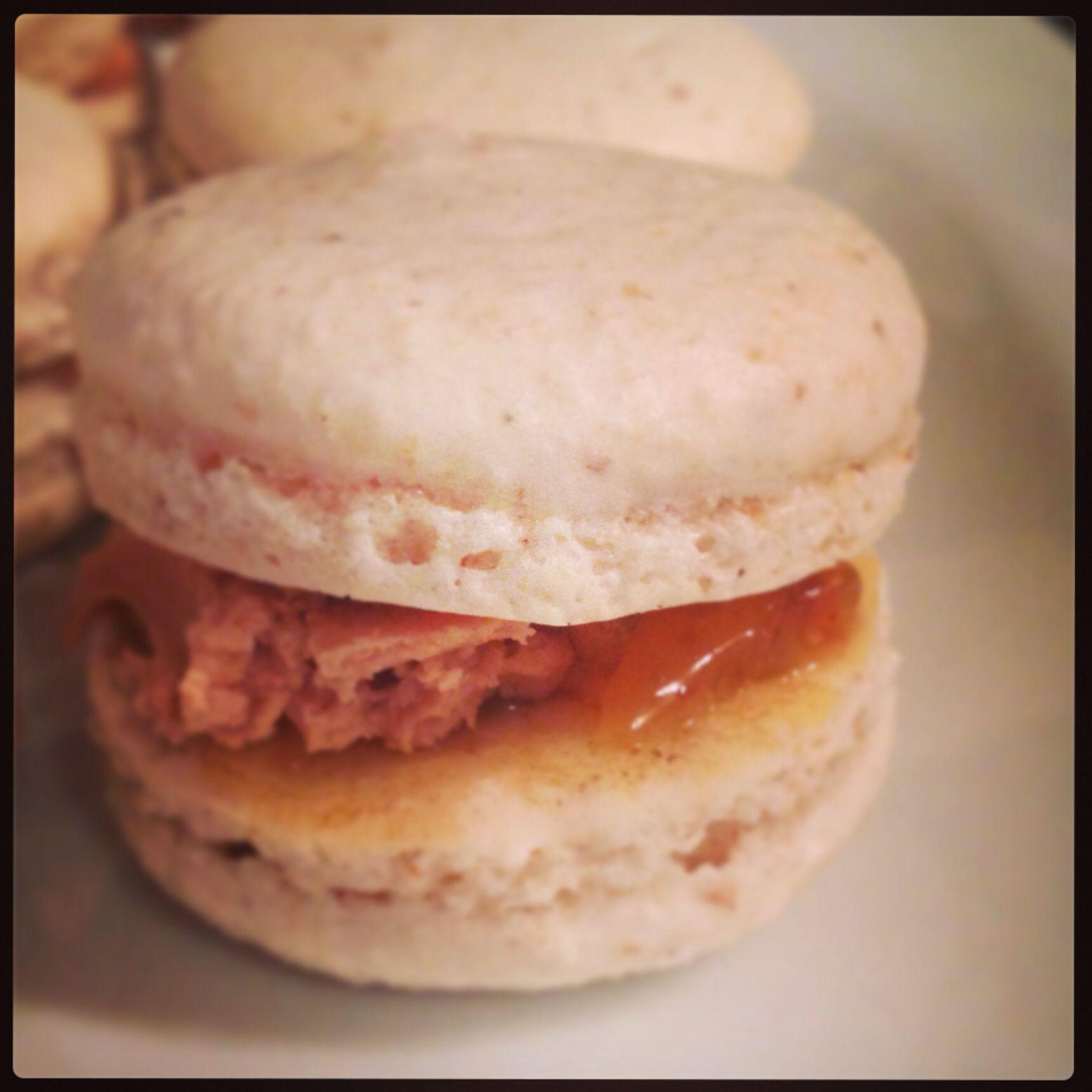 Macaron foie gras confit d'oignons