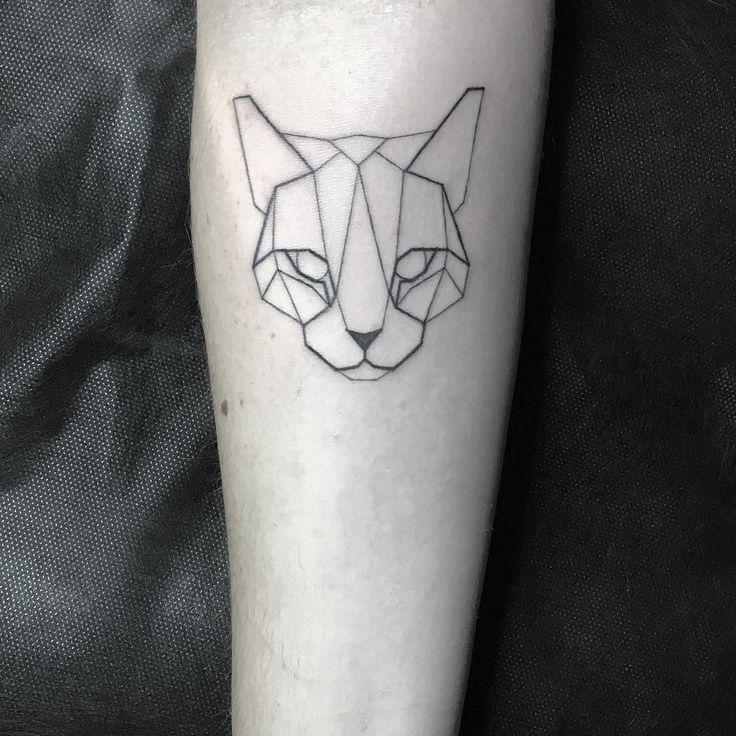 Geometric Tattoo   ·Geometric Cat Tattoo· by Daniel Berdiel… is part of Idees Tattoo Tattoos Geometric Cat Tattoo Tattoo - Geometric Tattoo design & Model for 2017 Image Description ·Geometric Cat Tattoo· by Daniel Berdiel