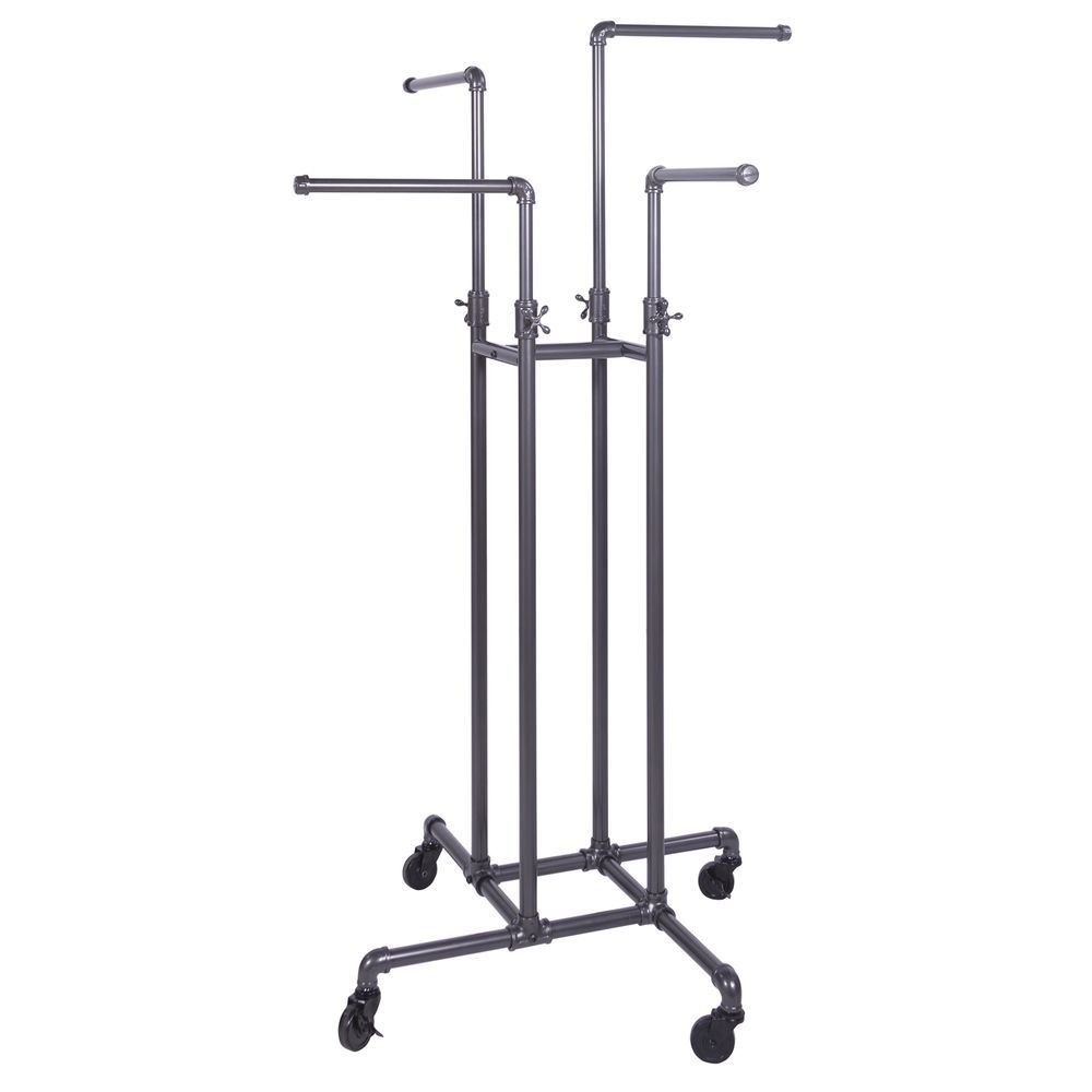ideas rack pipe of painting original black home clothing hanger