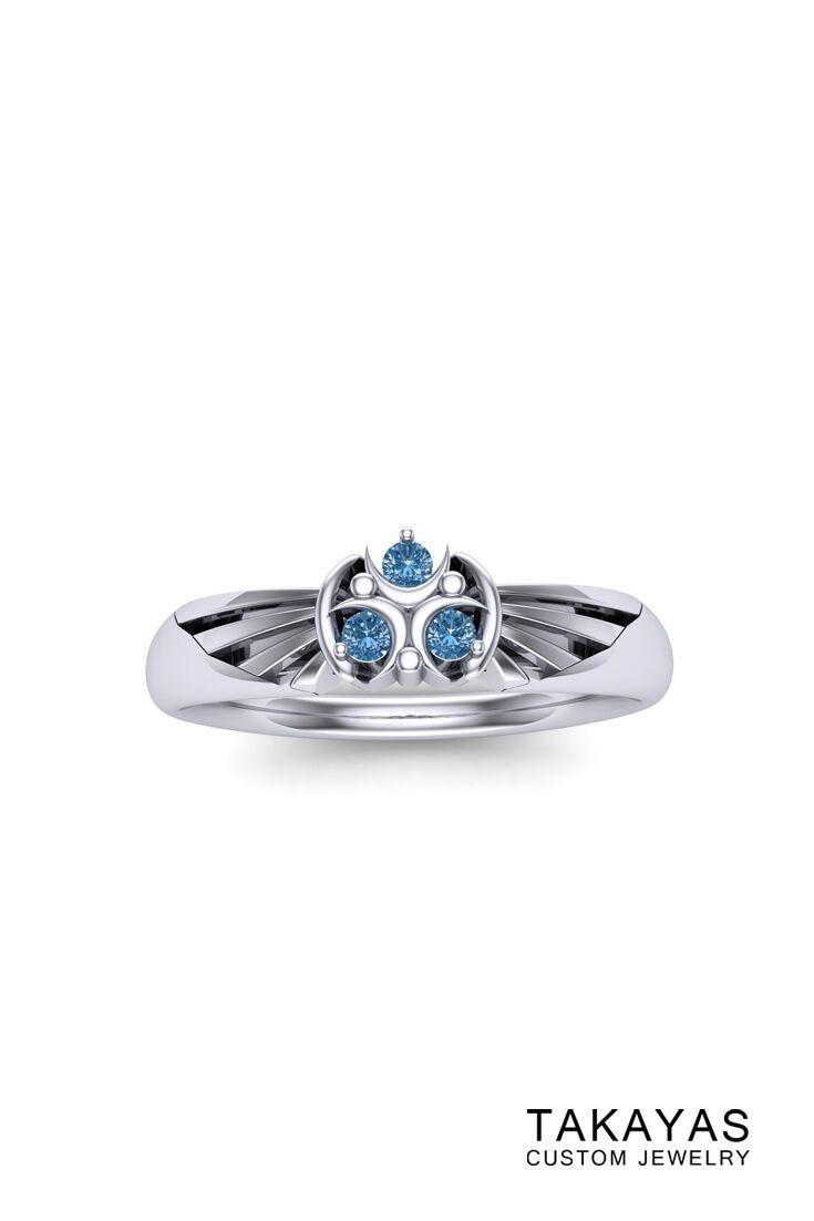 Zora Sapphire Zelda Inspired Ring By Takayas Custom Jewelry: Spiritual Stones Zelda Wedding Rings At Websimilar.org