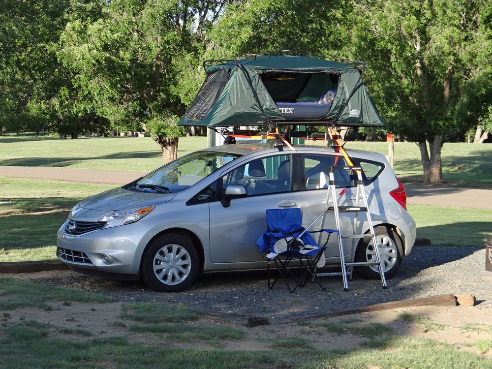 Camping With The Versa Roof Rack Nissan Versa Tent